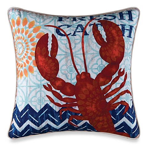 Fresh Catch Square Throw Pillow