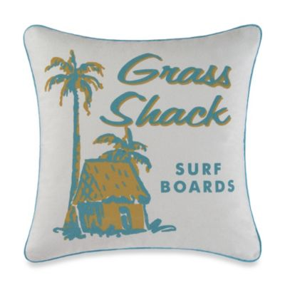 Grass Shack Square Toss Pillow