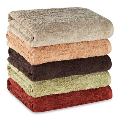 Portico Organic Slub Wash Cloth - Red