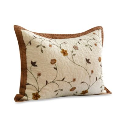 Nostalgia Home™ Savannah Standard Sham in Ivory/Taupe