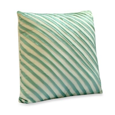 Nostalgia Home™ Madison Square Throw Pillow in Aqua and Khaki