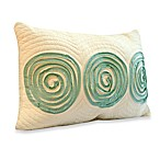Nostalgia Home™ Madison Oblong Toss Pillow in Aqua and Khaki