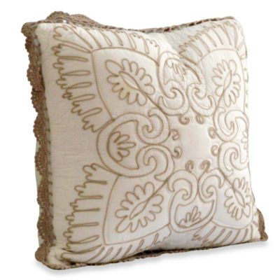 Nostalgia Home™ Nicola Square Throw Pillow in Ivory