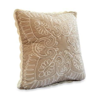 Nostalgia Home™ Nicola Square Throw Pillow in Taupe