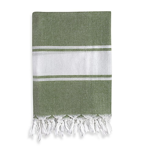 Turkish Fouta Towel in Green