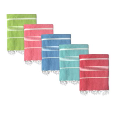 Striped Turkish Fouta Towels in Colors
