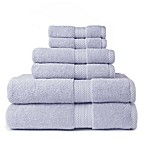 Chevron Border Pima Cotton 3-Piece Towel Sets in Colors