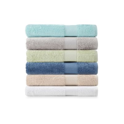 Tile Border Pima Cotton 3-Piece Towel Sets in Colors