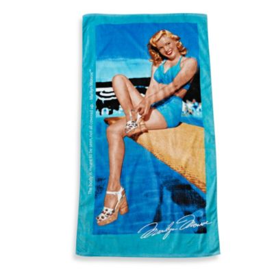 Marilyn Monroe Beach Towel in Turquoise
