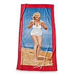 Marilyn Monroe Beach Towel in Coral