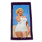 Marilyn Monroe Beach Towel in Plum