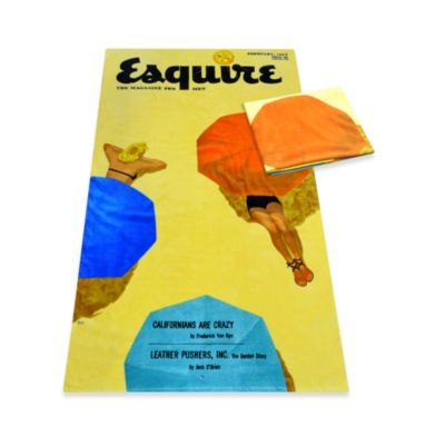 Esquire Cover February 1953 Oversized Cotton Beach Towel
