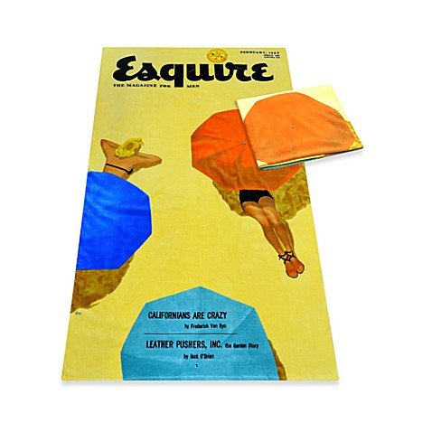 Buy Esquire Cover February 1953 Oversized Cotton Beach