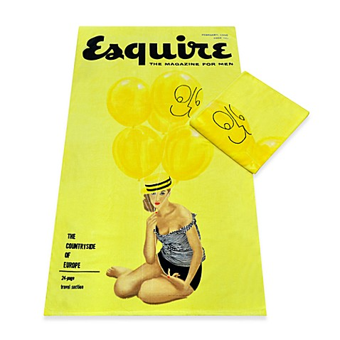 Esquire Cover February 1956 Oversized Cotton Beach Towel