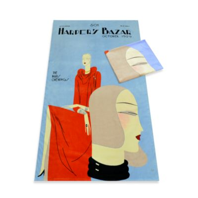 Harper's Bazaar™ 1929 Paris Openings Oversized Cotton Beach Towel