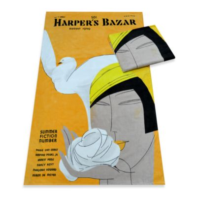 Harper's Bazaar™ Summer Fiction Cotton Beach Towel