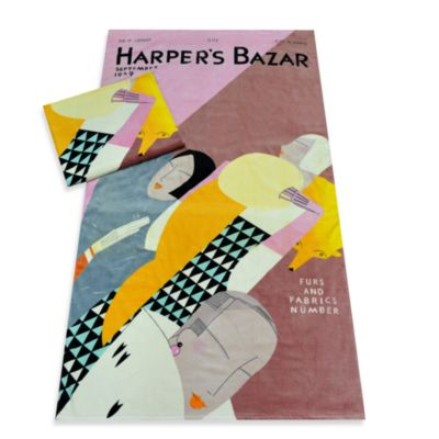 Harper's Bazaar™ Furs and Fiction Cotton Beach Towel