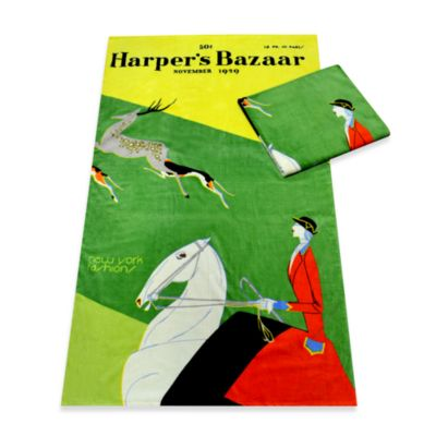 Harper's Bazaar™ New York Fashions Cotton Beach Towel