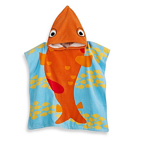 Child's Hooded Koi Cotton Towel