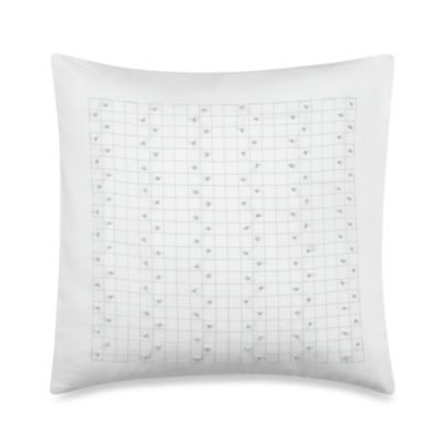 Barbara Barry® French Knots 14-Inch Square Toss Pillow in Silver Birch