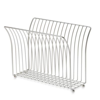Taymor® Steel Magazine Rack in Satin Nickel