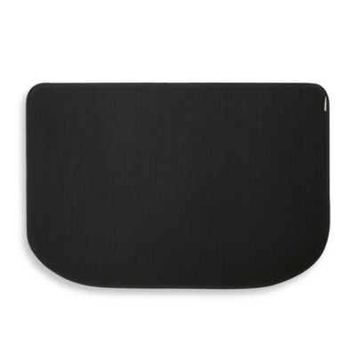Microdry® Memory Foam HD™ Textra Kitchen Mat in Black