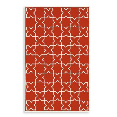 Liora Manne Capri Moroccan Tile Indoor/Outdoor Rug in Red