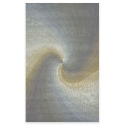 Trans-Ocean Waves River 5-Foot x 8-Foot Rug