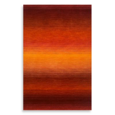 Trans-Ocean Stripes Sunrise 3-Foot 6-Inch x 5-Foot 6-Inch Rug