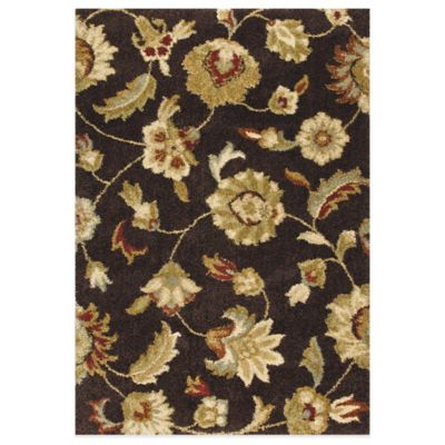 Orian Rugs London 5-Foot 3-Inch x 7-Foot 6-Inch Rug - Brown