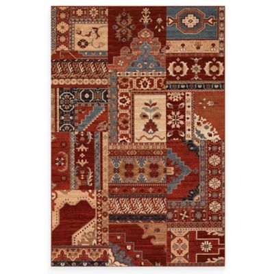 Couristan® Kerman Mosaic Burgundy 6-Foot 6-Inch x 9-Foot 10-Inch Indoor Rug