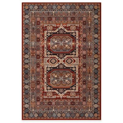 Couristan® Maharaja Burgundy 5-Foot 3-Inch x 7-Foot 6-Inch Indoor Rug