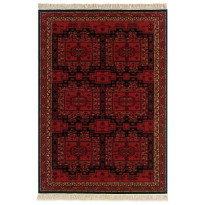 Couristan® Oushak 5-Foot 3-Inch x 7-Foot 9-Inch Wool Rug in Brick Red