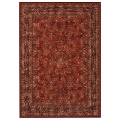 Couristan® Antique Kashan Burgundy/Navy 4-Foot 6-Inch x 6-Foot 6-Inch Indoor Rug