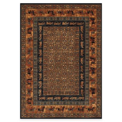 Couristan® Old World Classics Pazyrk 4-Foot 6-Inch x 6-Foot 6-Inch Wool Rug in Burnished Rust