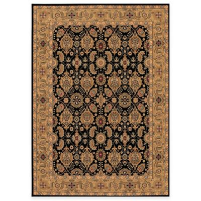 Couristan® All Over Vase Black 4-Foot 6-Inch Round Rug