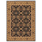 Couristan® All Over Vase Black Rug