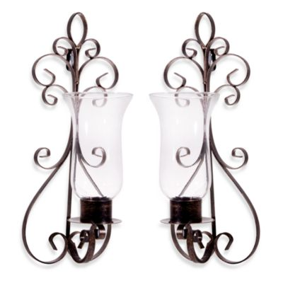 Wall Sconces Bed Bath Beyond : Portobello Metal Wall Sconces (2-Piece Set) - Bed Bath & Beyond