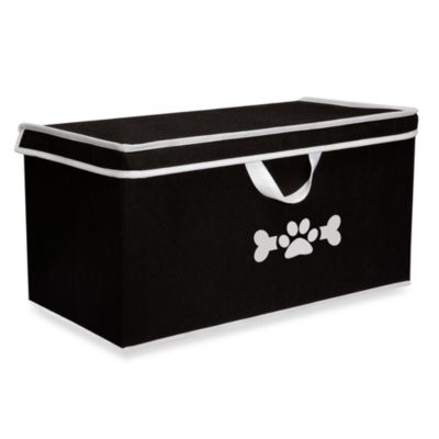 LAZYBONEZZ™ The Large Toy Box for Pets in Black