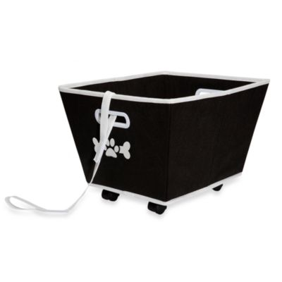 LAZYBONEZZ™ The Toy Bin on Wheels for Pets in Black