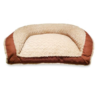 Deep Seated Katy Plush Pet Lounger Bed with Tyler Wall