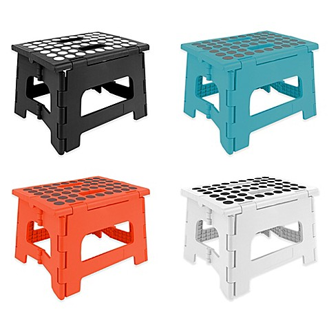 Kikkerland easy folding step stool Bathroom step stool for kids