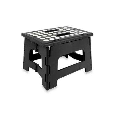 Kikkerland® Easy Fold Step Stool in Black
