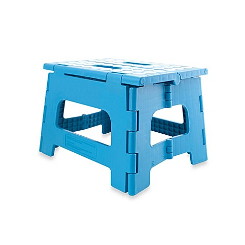 Kikkerland 174 Easy Folding Step Stool In Peacock Blue Bed