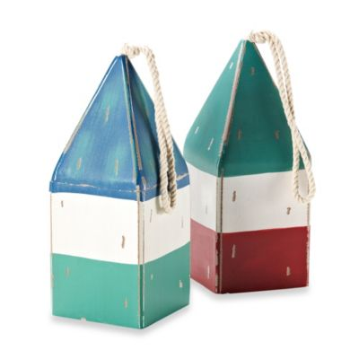 9.5-Inch Wooden Nautical Buoys