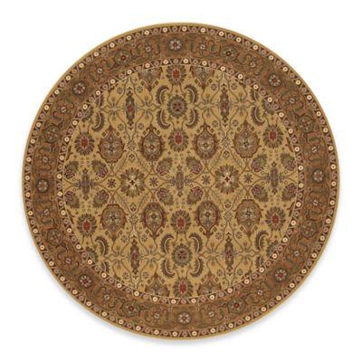 Couristan® All Over Vase Hazelnut 6-Foot 6-Inch Round Indoor Rug