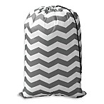 Novelty Printed Chevron Laundry Bag in Peacock Blue