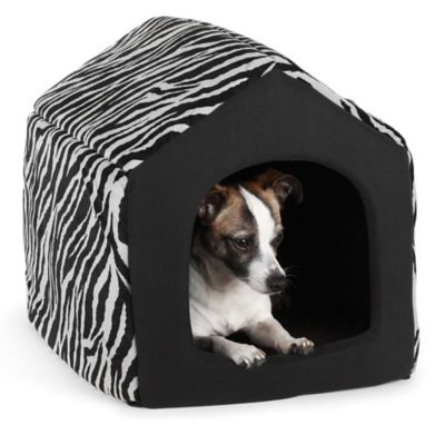 Best Friends by Sheri Medium Convertible Pet House in Baby Zebra Black