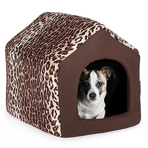 Best Friends by Sheri Medium Convertible Pet House in Leopard Brown