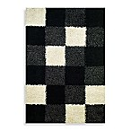 Concord Global Blocks Black Rug
